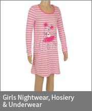 Girls Nightwear, Hosiery & Underwear